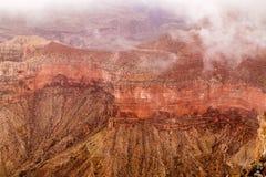 在大峡谷的红色山 库存图片