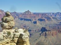 在大峡谷的风景看法 免版税库存图片