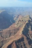 在大峡谷的飞行 图库摄影