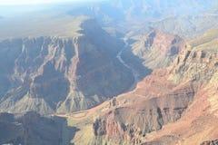 在大峡谷的飞行 免版税库存照片