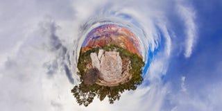 在大峡谷美国的一点行星视图 图库摄影