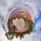 在大峡谷美国的一点行星视图 免版税库存图片