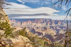 在大峡谷,亚利桑那美国的早晨轻的日出 库存照片