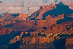 在大峡谷,美国的日出 库存图片