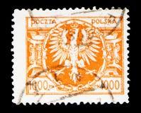 在大巴洛克式的盾的老鹰, serie,大约1923年 库存图片