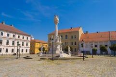 在大广场的三位一体纪念碑在奥西耶克 免版税库存图片