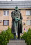 在大广场的列宁雕象在维堡,俄罗斯 免版税库存照片