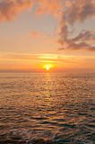 在大开曼海岛,开曼群岛上的日落 免版税图库摄影