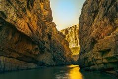 在大弯曲国家公园的狗峡谷在得克萨斯 免版税库存照片