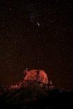 在大弯NP得克萨斯美国的卡萨格兰德峰顶 免版税图库摄影