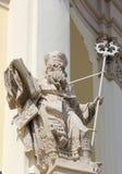 在大教堂教会的雕象在Lviv 库存照片