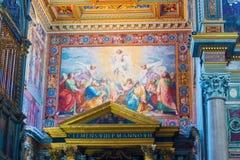 在大教堂的内部绘画圣约翰Lateran在罗马,它 免版税图库摄影