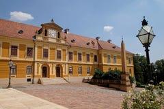 在大教堂的神父寓所在佩奇匈牙利 免版税库存图片