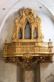 在大教堂,罗马的器官 库存照片