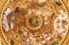 在大教堂dell'Annunziata的古老绘画 免版税库存图片