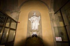 在大教堂di圣多梅尼科里面 图库摄影