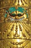 在大昭寺的屋顶时钟 库存图片