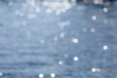 在大海的水泡与轻微的迷离 图库摄影