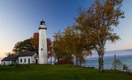 在大湖海岸的秋天 免版税库存照片