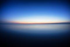 在大湖的黎明 库存照片