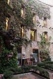 在大理剧院和博物馆,西班牙的庭院视图 免版税库存图片