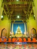 在大理石寺庙的圣歌 库存图片