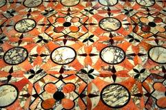 在大理石的拼花地板 库存图片