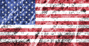 在大理石纹理的美国旗子 免版税库存图片