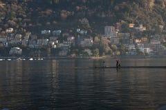 在大美丽的湖, Como湖,意大利上的看法 免版税图库摄影