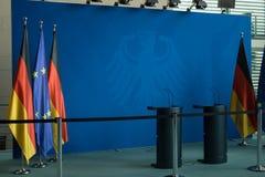 在大臣官邸大厦里面在柏林Mitte 免版税库存照片