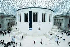 在大英博物馆的巨大法院在伦敦 免版税图库摄影