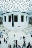 在大英博物馆的巨大法院在伦敦 库存照片