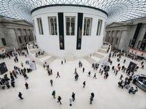 在大英博物馆的广场 免版税库存图片