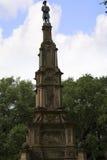 在大草原的公园纪念碑在乔治亚为它的被修剪的公园、用马拉的支架和华丽战前建筑学知道 免版税库存照片
