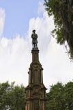在大草原的公园纪念碑在乔治亚为它的被修剪的公园、用马拉的支架和华丽战前建筑学知道 免版税库存图片
