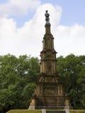 在大草原的公园纪念碑在乔治亚为它的被修剪的公园、用马拉的支架和华丽战前建筑学知道 库存照片