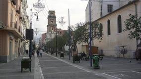 在大街上的人们在索伦托 股票录像