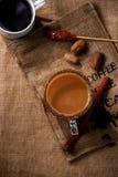 在大袋的咖啡 免版税图库摄影