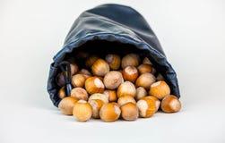 在大袋的坚果 免版税库存照片