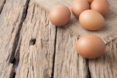在大袋的鸡蛋 免版税库存图片