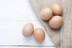 在大袋的鸡蛋 库存图片
