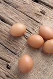 在大袋的鸡蛋 库存照片