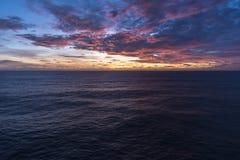 在大西洋的黎明 免版税库存照片