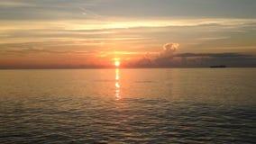 在大西洋上的美好的日出 影视素材
