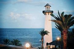 在大西洋岸的灯塔 库存图片