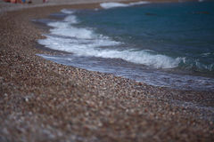 在大西洋海岸的五颜六色的日出风景 免版税图库摄影