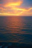 在大西洋的五颜六色的日出playa的del Ingles 库存图片