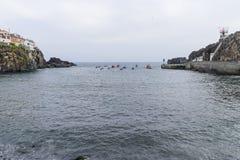 在大西洋的小船 图库摄影