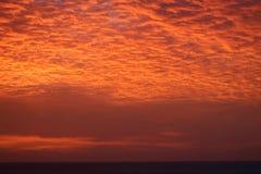 在大西洋的惊人的日落从南安普敦,百慕大 免版税库存图片