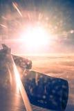 在大西洋的惊人的日落 免版税库存照片